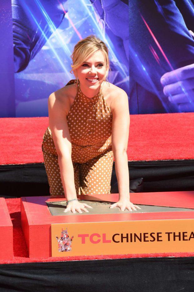 Scarlett Johansson: Avengers: Endgame Hand Print Ceremony -08