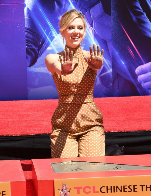 Scarlett Johansson: Avengers: Endgame Hand Print Ceremony -09