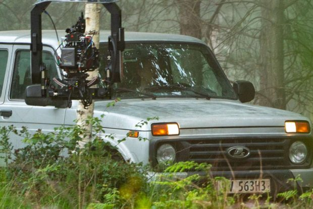 Scarlett Johansson: Black Widow movie set at Pinewood Studios -15