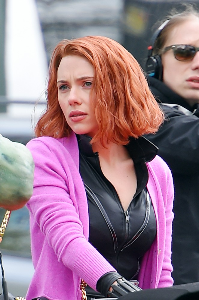 Scarlett Johansson - Does a 'Saturday Night Live' skit in Central Park