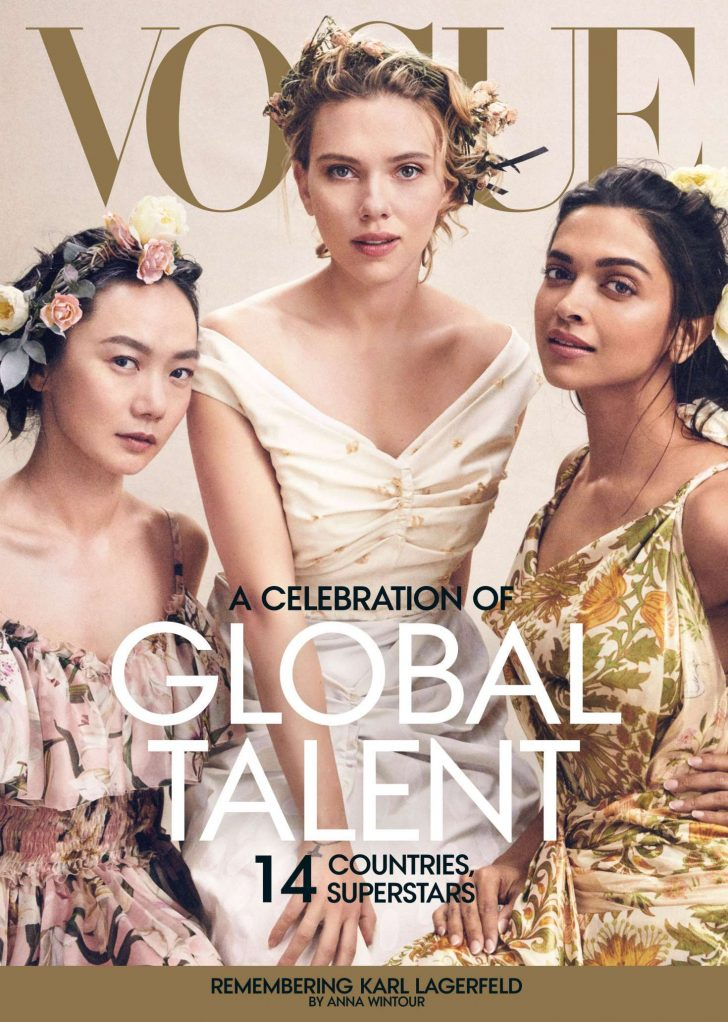 Scarlett Johansson, Doona Bae and Deepika Padukone - Vogue US Magazine (April 2019)