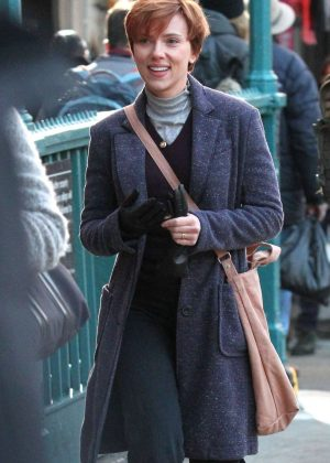 Scarlett Johansson - Filming new film in NY