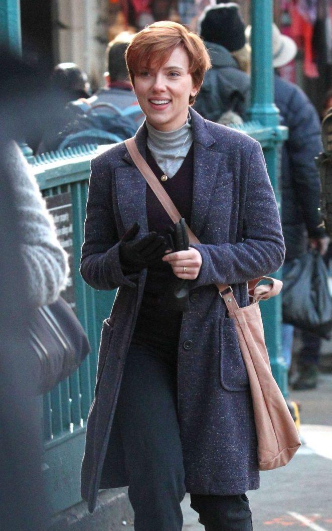 Scarlett Johansson - Filming new film in NY
