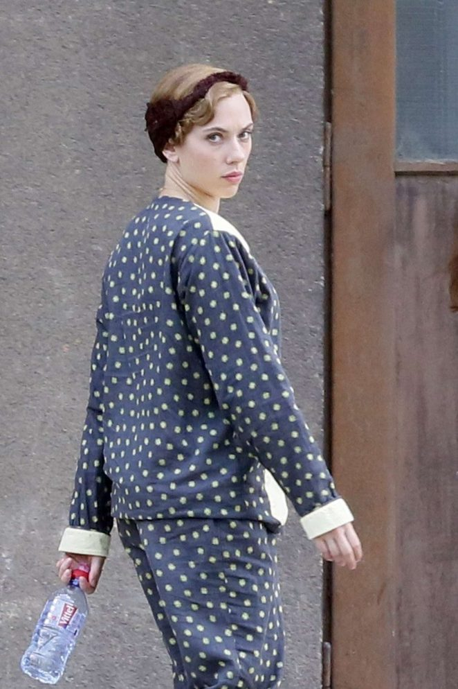 Scarlett Johansson - Filming the new WWII satire Jojo Rabbit directed by Taika Waititi in Prague