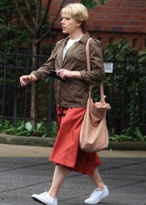 Scarlett Johansson - Filming 'Untitled Noah Baumbach Project' in Park Slope