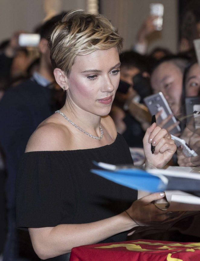 Scarlett Johansson: Ghost In The Shell Premiere in Seoul ...