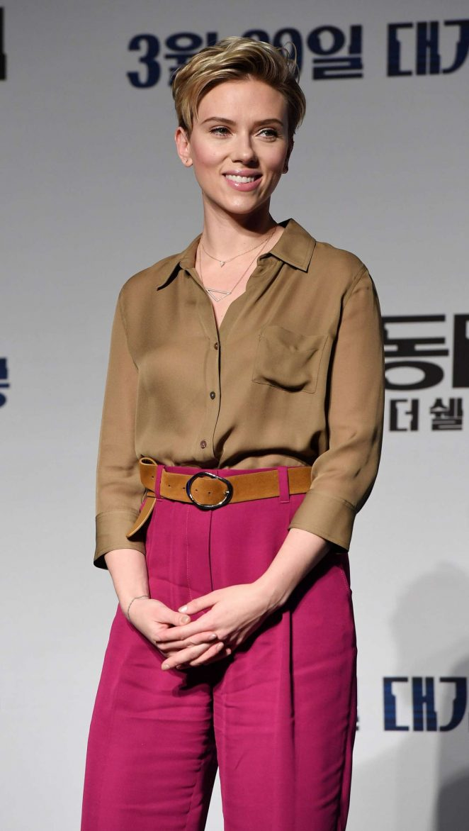 Scarlett Johansson - 'Ghost In The Shell' Press Conference in Seoul