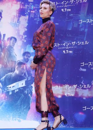Scarlett Johansson - 'Ghost In The Shell' Press Conference in Tokyo