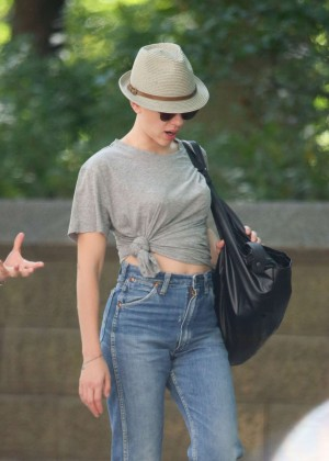 Scarlett Johansson in Jeans out in NY