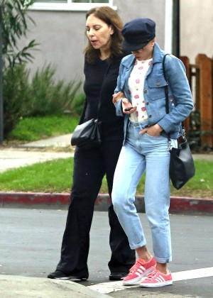 Scarlett Johansson in Jeans out in LA