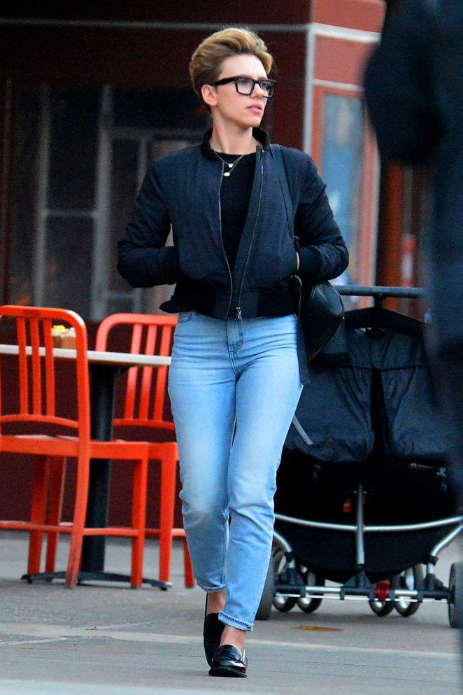 Scarlett Johansson in Jeans Out in New York