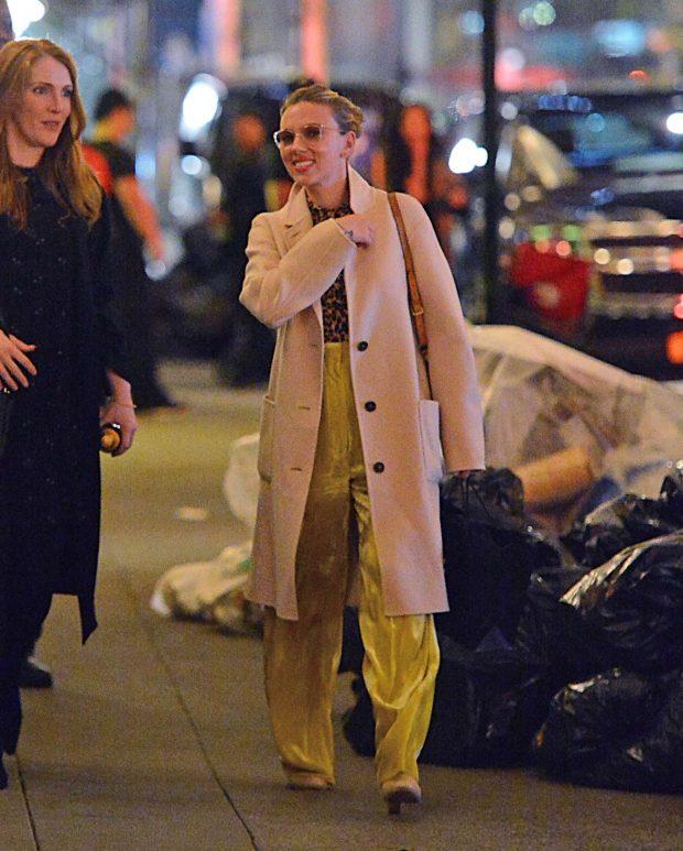 Scarlett Johansson - Leaves the POLO Bar Restaurant in NYC