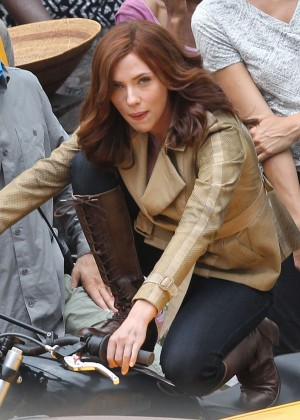 Scarlett Johansson - On set of 'Captain America: Civil War' in Atlanta