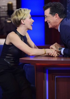 Scarlett Johansson on 'The Late Show With Stephen Colbert' in NY