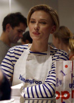 Scarlett Johansson - Opens New Store Yummy Pop in Paris