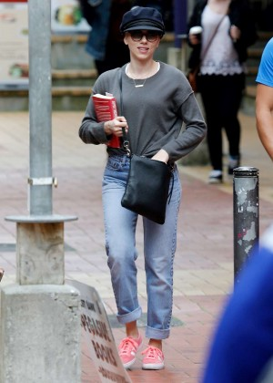 Scarlett Johansson out in Wellington