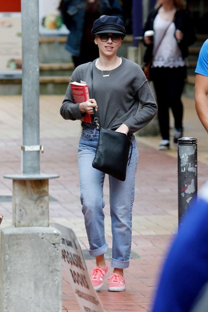 Scarlett Johansson out in Wellington