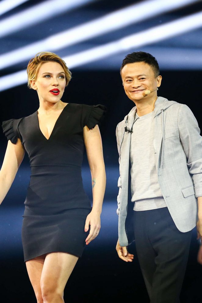 Scarlett Johansson - Tmall 11:11 Global Shopping Festival Gala in Shenzhen