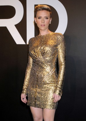 Scarlett Johansson - Tom Ford 2015 Womenswear Collection Presentation in LA