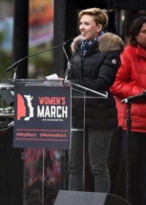 Scarlett Johansson - Women's March on Washington