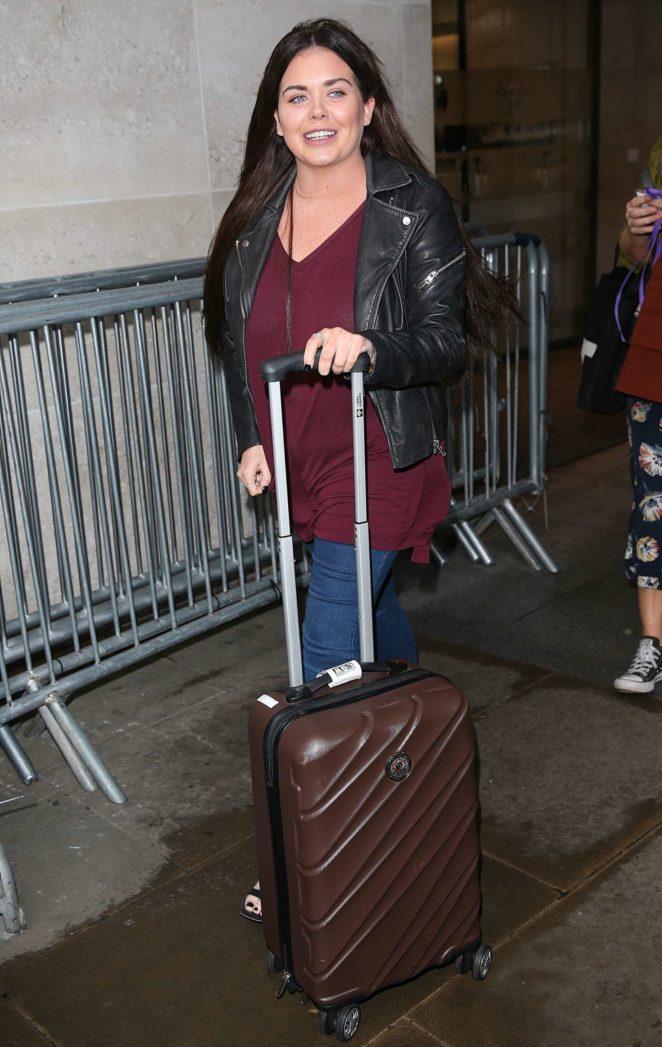 Scarlett Moffatt Arriving at BBC Radio studios in London
