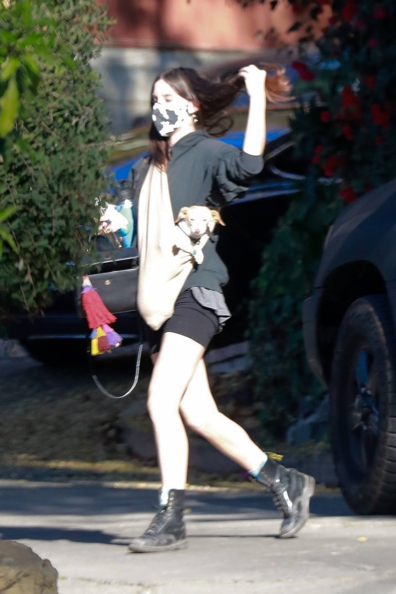 Scout Willis - Brings her pup to visit a friend in Los Angeles