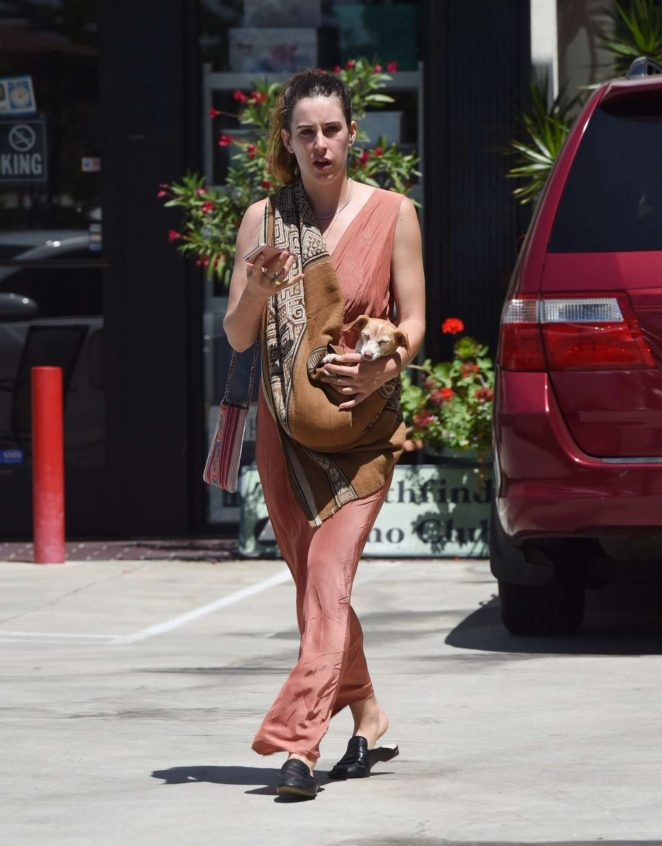 Scout Willis in Long Dress Out in Los Angeles