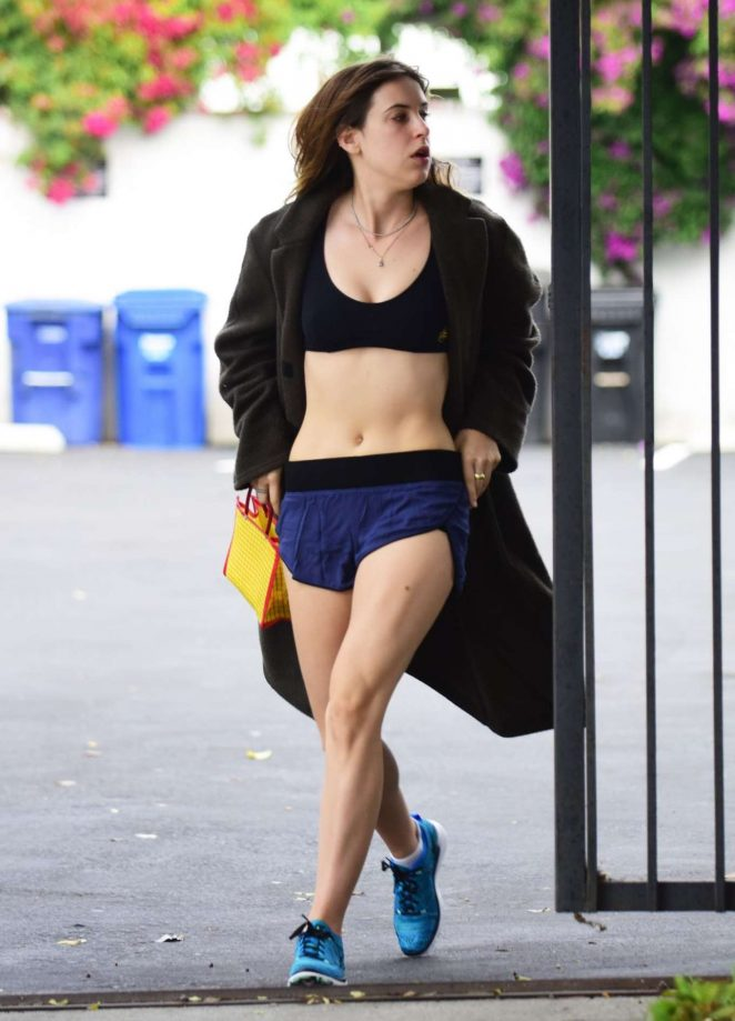 Scout Willis in Shorts Leaves a gym in West Hollywood
