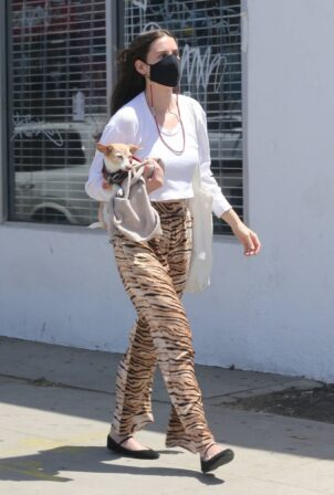 Scout Willis - Running errands with her dog in Los Angeles