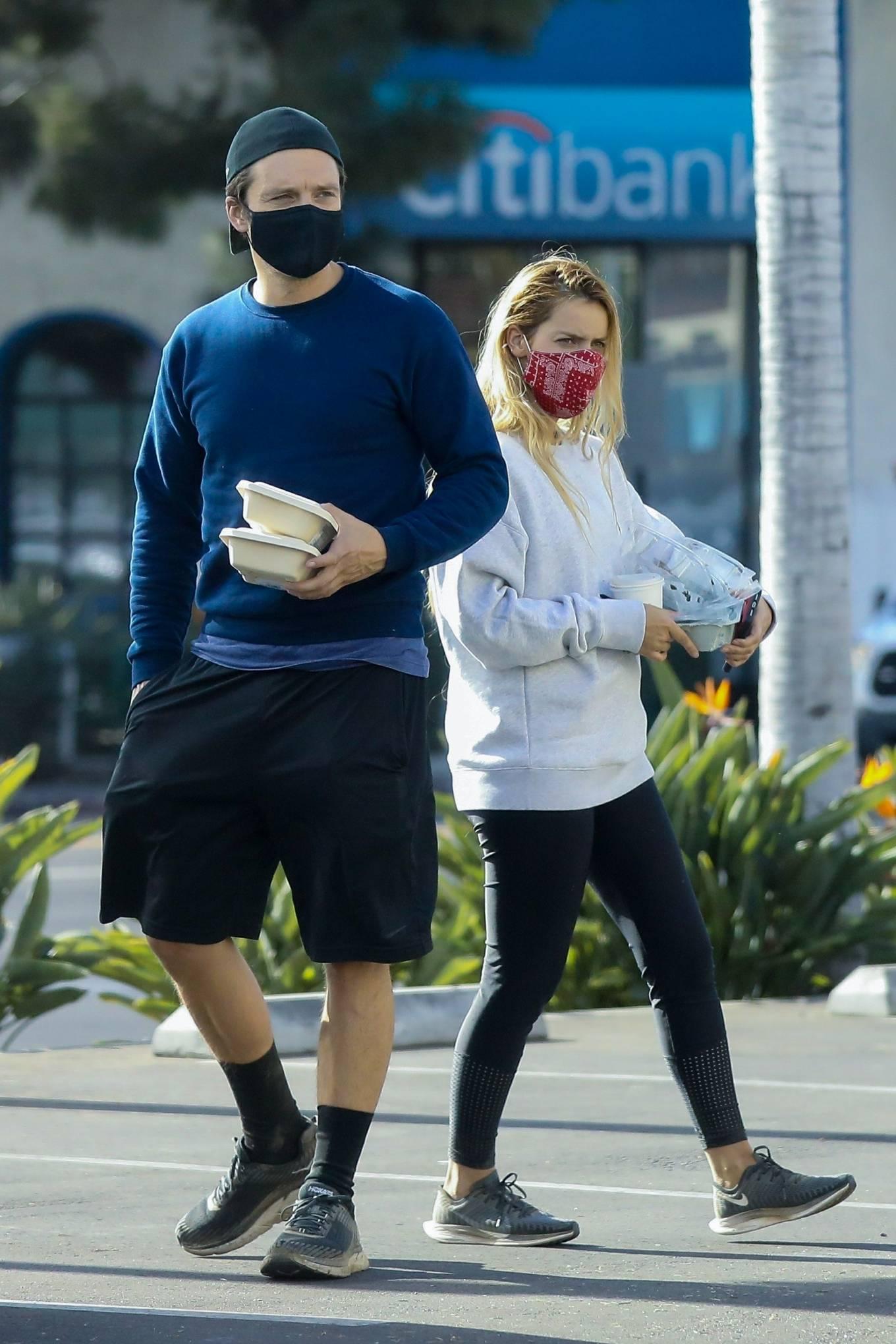 Sebastian Stan and Alejandra Onieva - Seen at The Grove in Los Angeles