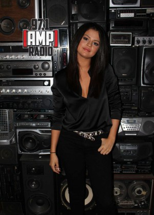Selena Gomez - 97.1 AMP Radio in NYC