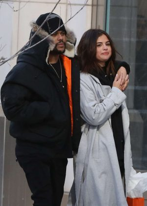 Selena Gomez and her boyfriend The Weeknd out in Toronto
