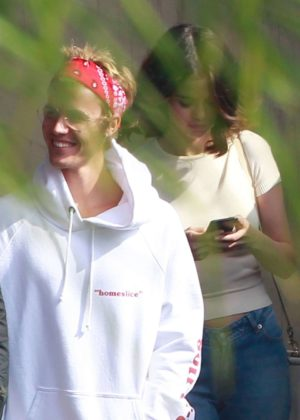 Selena Gomez and Justin Bieber - Attends church services in LA