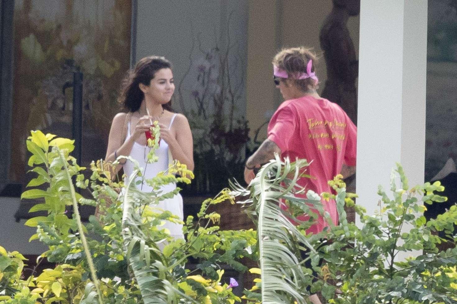Selena Gomez and Justin Bieber - Celebrating family wedding in Jamaica