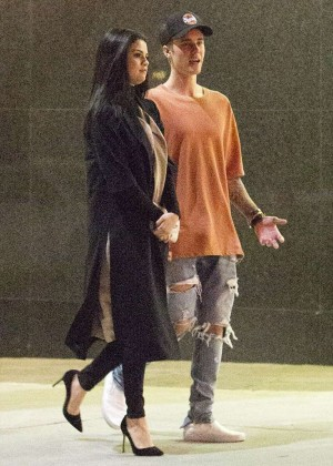 Selena Gomez and Justin Bieber - Leaves The Montage Hotel in Beverly Hills