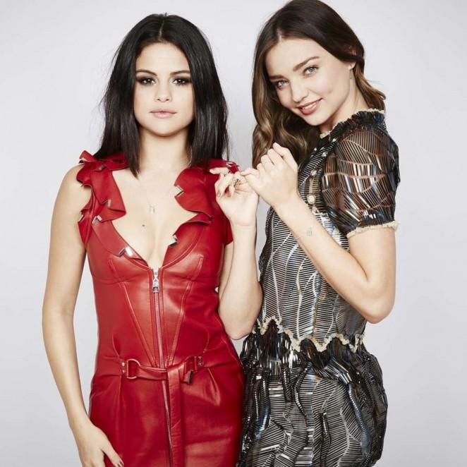 Selena Gomez and Miranda Kerr - 6th Biennial UNICEF Ball Portraits