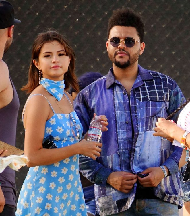 Selena Gomez and The Weeknd - 2017 Coachella Music Festival in Indio