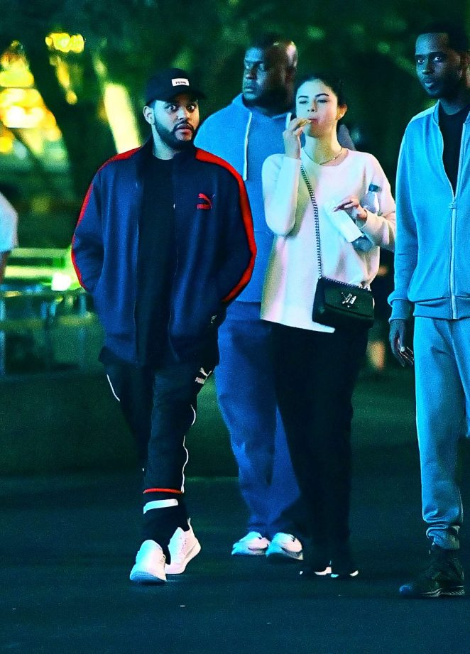 Selena Gomez 2017 : Selena Gomez and The Weeknd at Disneyland -03
