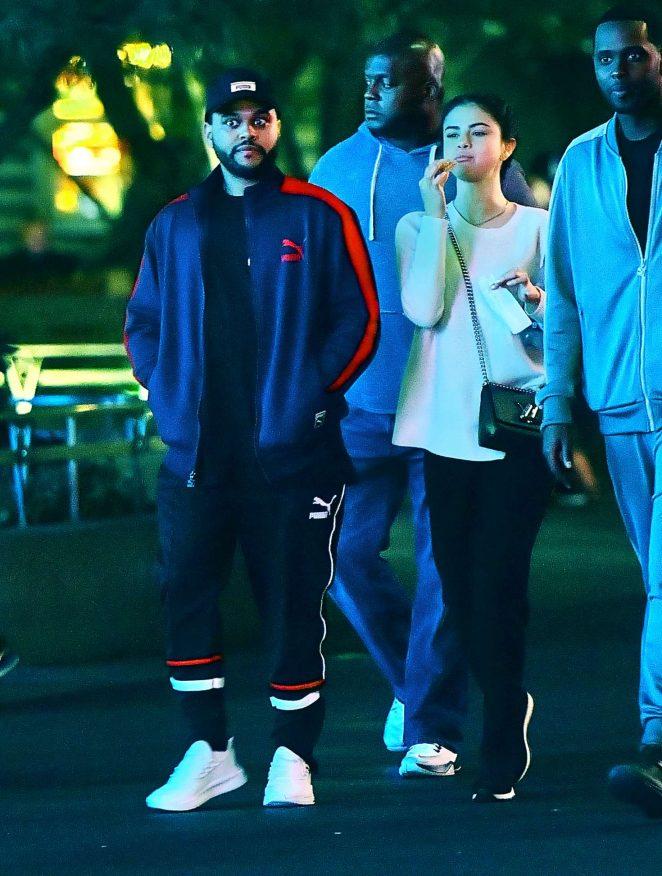 Selena Gomez 2017 : Selena Gomez and The Weeknd at Disneyland -07