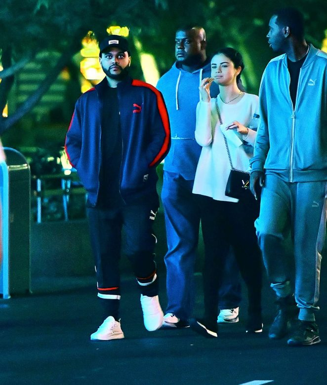 Selena Gomez and The Weeknd at Disneyland -12