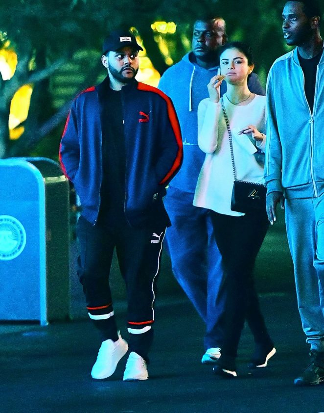 Selena Gomez and The Weeknd at Disneyland -13