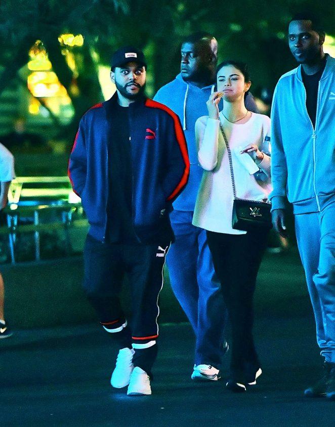 Selena Gomez and The Weeknd at Disneyland -15
