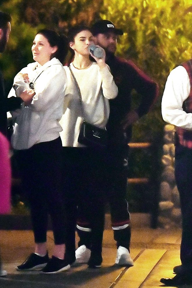 Selena Gomez and The Weeknd at Disneyland -22