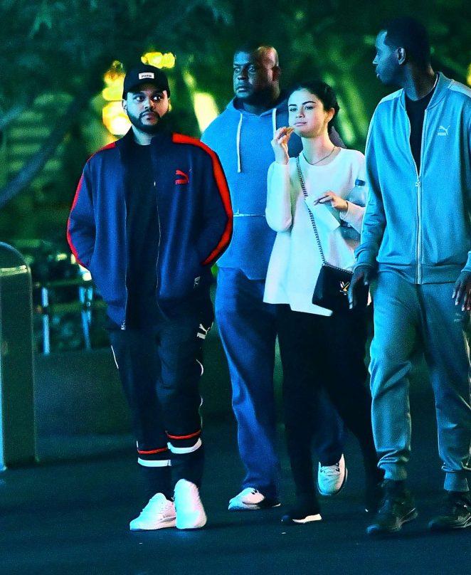 Selena Gomez and The Weeknd at Disneyland -23