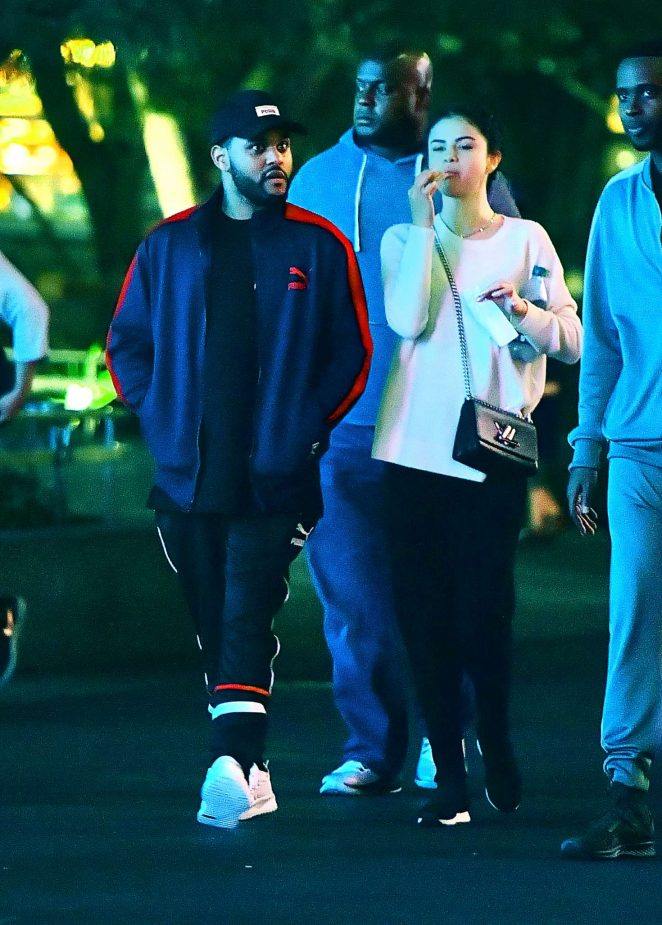 Selena Gomez and The Weeknd at Disneyland -25