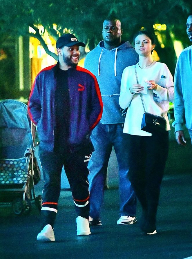 Selena Gomez and The Weeknd at Disneyland -28