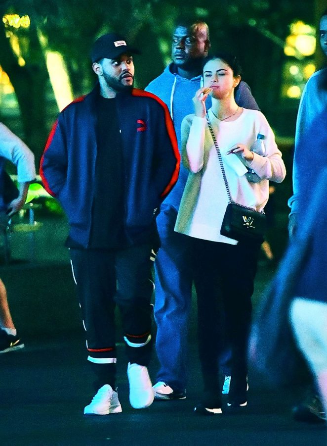 Selena Gomez and The Weeknd at Disneyland -29