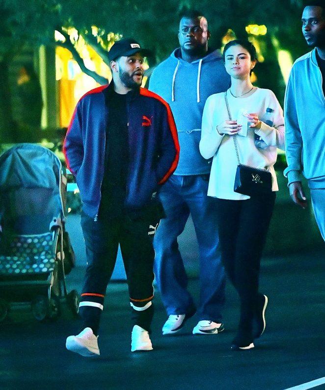 Selena Gomez and The Weeknd at Disneyland -31