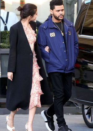 Selena Gomez and The Weeknd at Galleria Dell'accademia in Florence