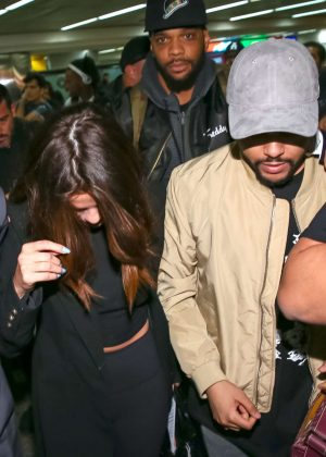 Selena Gomez and The Weeknd at Guarulhos airport in Sao Paulo